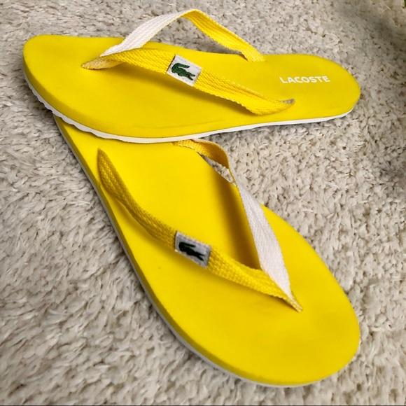 Lacoste Thong Sandal With Nylon Braid